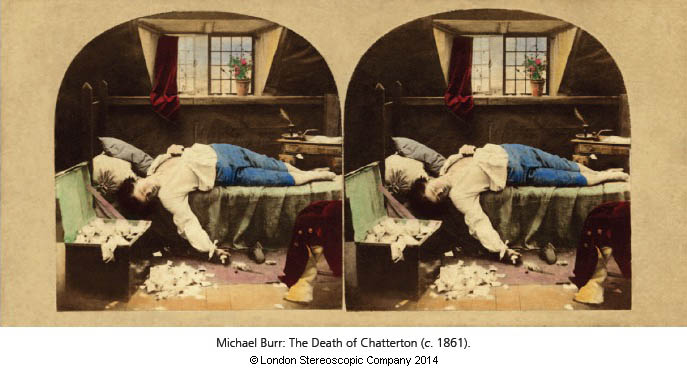 Michael Burr: The Death of Chatterton (c. 1861).
