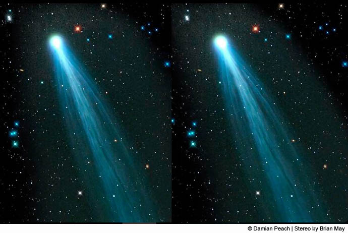 Comet ISONS stereo