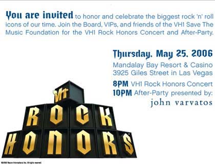 VH1 Rock Honors Invite
