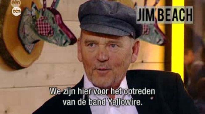 Jim Beach on Belgian TV